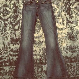 7 for All Mankind Jiselle Dark Wash Flare Jeans